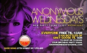 Anonymous Wednesdays at Suzy Wong