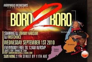 Anonymous Wednesdays Boro 2 Boro Suzie Wong September 1st