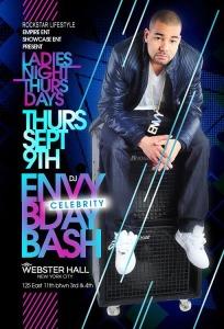 DJ Envy Birthday Bash Webster Hall NYC Thursday Ladies Night September 9, 2010