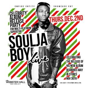 Soulja Boy Webster Hall December 2 NYC