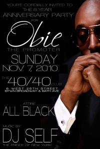 Obie Sunday November 7 4040 DJ Self